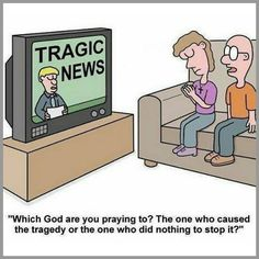 """Let's not forget the amazing power of sending thoughts and prayers to the families of victims of disasters or typing """"Amen"""" on an Internet post about somebody having Cancer. 😒😒😒 It's simply finding a way to feel good about doing absolutely nothing Atheist Quotes, Atheist Humor, Religion Humor, Secular Humanism, Losing My Religion, Religious People, Les Religions, Thought Provoking, Christianity"""