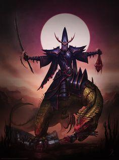 Dark Elf Cold One Knight by ZacART on DeviantArt