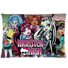 Wholesale 5pcs Custom Monster High Pillowcase Standard Size 20x30 WP-006 -- See this great image  : DIY : Do It Yourself Today