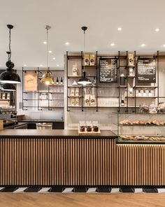 The Primo Cafe Bar stands for high-quality coffee, an Italian lifestyle and a sustainable mind-set. In the spirit of this brand philosophy, an authentic interior design concept with natural materials and dedication to. Bakery Shop Design, Coffee Shop Interior Design, Restaurant Interior Design, Coffee Cafe Interior, Bakery Shop Interior, Cafe Interior Vintage, Industrial Restaurant Design, Vintage Cafe Design, Patisserie Design