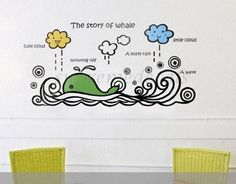Custom PopDecals - The Story of Whale - Beautiful Tree Wall Decals for Kids Rooms Teen Girls Boys Wallpaper Murals Sticker Wall Stickers Nursery Decor Nursery Decals >>> Check out this great image  (This is an amazon affiliate link. I may earn commission from it)