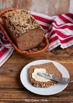 Galeria Smaku: Chleb żytni Banana Bread, Healthy, Recipes, Vintage, Food, Recipe, Drawing Rooms, Bread