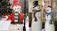 Classic Christmas Snowmen in the yard photo