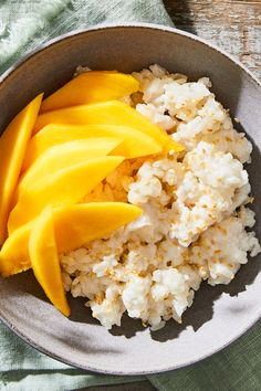 This sticky rice is so good, you'll be surprised how quickly another craving for it will hit. So take advantage of mango season and enjoy this delicious dessert out in the sunshine—it'll just taste a tiny bit better. Summer Fruit, Summer Desserts, Thai Mango, Sticky Rice Recipes, Mango Sticky Rice, Coconut Sauce, Recipe Directions, Glutinous Rice, Test Kitchen