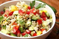 Freekeh salad with tomato and arugula #recipe