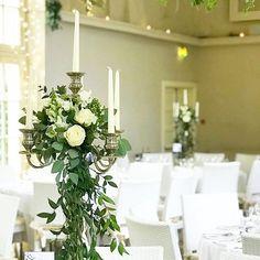 Candelabra flowers at @kilshanehouse #weddingdetails #weddingtable #candelabra #irishwedding #irishflorist #kilshanehouse #bloomsdayflowers