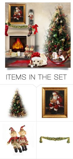 """A Pup for Christmas"" by cathy1965 ❤ liked on Polyvore featuring art"