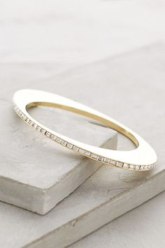 Golden Slice Bangle #anthrofave by Anthropologie #jewelry_design