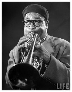 Dizzy Gillespie - I met him once. When I was working as a waiter I was asked to pick him up from the airport and drive him to the Red Creek Inn .. at the end of the ride, he turned to me and puffed up his cheeks - AMAZING!!!