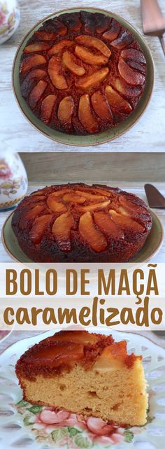 If you're going to prepare a dinner for your family or friends and want to surprise them with a special dessert, prepare this delicious caramelized apple. Apple Recipes, New Recipes, Cake Recipes, Caramelised Apples, Cast Iron Cooking, Round Cake Pans, Latest Recipe, Apple Cake, Baked Apples