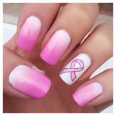 T Cancer Awareness Acrylic Nails By Danijelladavis Nail Art Gallery Magazine Www Nailsmag Pinterest