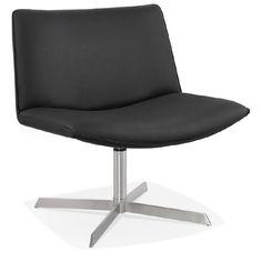 Très agréable et confortable, le Fauteuil design pivotant MIRANDA (noir) s'associe parfaitement avec des meubles modernes et contemporains.