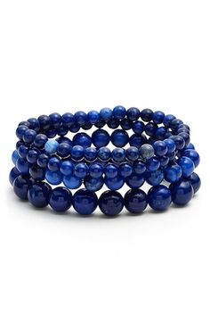 Nordstrom Beaded Stretch Bracelets (Set of 4) available at #Nordstrom