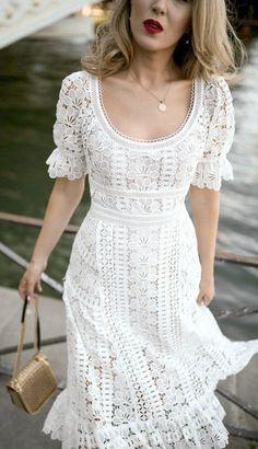 Vestido Midi Ombro a Ombro c Renda Maitê Lojas Karol