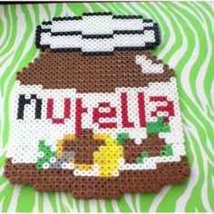 Perler Bead Nutella Jar by Alyssa's Adorable Crafts