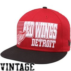 4daec543cab New Era Detroit Red Wings Red-Black 9FIFTY Borderline Snapback Adjustable  Hat