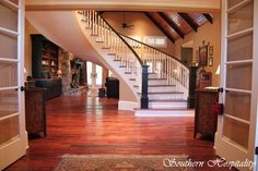 staircase - Craftsman style home. Beautiful.