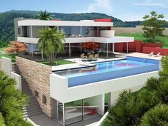 glass infinity pool. Perfect for my house in the hamptons....