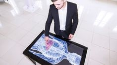 Touch table display, great for events, exhibitions, trade shows and fairs. With the interactive software lime and the touch display you could fast and easy create interactive presentations to display your material in new and creative ways.
