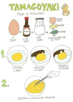 tamagoyaki (omlette with salad)