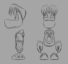 Rayman modeling sheet