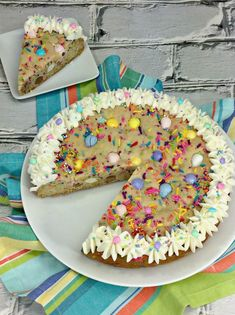 Cadbury Mini Eggs Easter Cookie Cake Recipe - Lola Lambchops