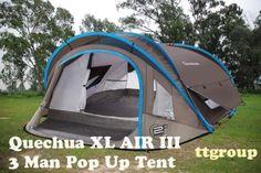 Quechua-Waterproof-Pop-Up-Camping-Tent-2-Seconds-XL-AIR-III-3-Man-Double-Lining