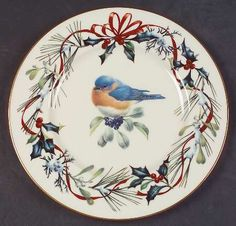 Lenox Winter Greetings Eastern Bluebird Accent Luncheon Plate