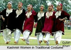 Kashmiri women's traditional Kashmiri dresses & Jewellery