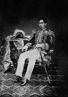 明治天皇 - Emperor Meiji. Out back, wanting in. Thy are unhappy that my figure is returning to normal proportions. Cousin of King Buffet. MR. MOB, P.A.Y. YOUR BILL!!! YOUR RAINBOW JUST DISAPPEARED, I AM SORRY TO SAY.