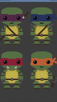 Teenage Mutant Ninja Turtles TMNT Cross stitch pattern