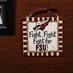 Florida State Seminoles (FSU) 8'' x 8'' Ceramic Tile Sign