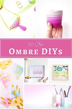 DIY Ombre Home Decor ideas With Ombre - Shabbyfufu