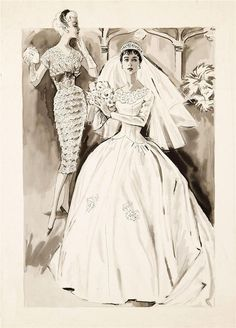 Vintage Bridal Illustration