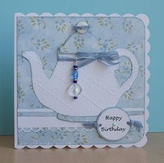 Cuttlebug Card. Although this is made with the Cuttlebug, you can use the Cricut machine  the Sophisticated cartridge.