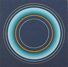 """ANTONI0 ASÍS / Argentina / De la serie """"Circles Concentriques"""": Sin título, 2011 /  Gouache/cartón y tela"""