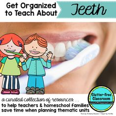 Teeth ideas, books, resources, and crafts {Get Organized to...
