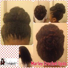 Hair By Ms Marie Gods Favored Marley Crochet Updo  #HairByMsMarieGodsFavored