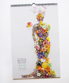 Will Ship In 2 3 Weeks This Premium Semi Gloss 11x17 Wall Calendar Features 13 Flower Prints Art