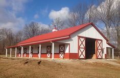 Springfield OH, Horse Stable, Veteran Buildings, Lester Buildings Pole Barn Cost, Pole Barns Direct, Metal Pole Barns, Pole Barn Homes, Farnsworth House, Shed Design, Garage Design, Bungalow, Exterior Sliding Barn Doors