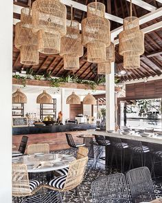 Some rattan Sunday inspiration from shot by me. Cafe Design, Rustic Design, House Design, Restaurant Interior Design, Cafe Interior, Design Exterior, Interior And Exterior, Restaurant Hotel, Bali Furniture
