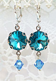 A personal favorite from my Etsy shop https://www.etsy.com/listing/224084234/new-swarovski-light-turquoise-rivoli