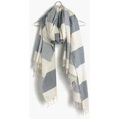 MADEWELL Backyard Blanket ($43) ❤ liked on Polyvore featuring home, bed & bath, bedding, blankets, striped bedding, cotton blankets, striped cotton blanket, striped blanket and scarf blanket