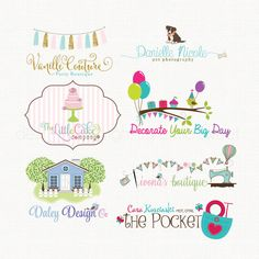 Custom Logo Photography Logo Design Party by stylemesweetdesign