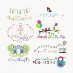 Custom Logo  Photography Logo Design Party by stylemesweetdesign