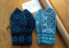 Really nice mittens. Fair isle!