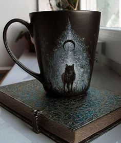 Time for a morning cuppa ✨ ☕️. I bet my coffee would taste even better in this stunning dark cup from ✨ 💜. Do you have a favourite cup/mug that you always use or is it just the same to you? Tag a fellow coffee lover ☕️ ☕️ ☕️. Tassen Design, Coffee Cups, Tea Cups, Keramik Design, Dire Wolf, Cool Mugs, Mug Cup, Ceramic Pottery, Tea Party