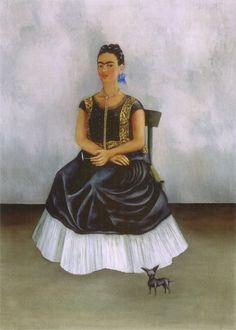 Itzcuintli Dog with Me, 1938, Frida Kahlo Size: 71x52 cm Medium: oil on canvas