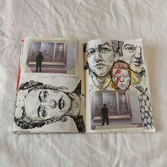 Sketch Book Wonder what the story is of the combination of pictures and sketches. Art Sketches, Art Drawings, Frida Art, Melbourne Art, Art Watercolor, Watercolor Journal, Arte Sketchbook, Art Diary, Beauty Illustration