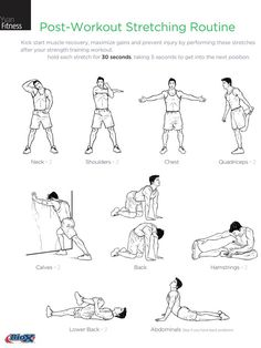 Post workout stretching routine